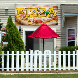 Vinyl Banner Sign Pizza 1 Style A Pizza Outdoor Marketing Advertising Yellow