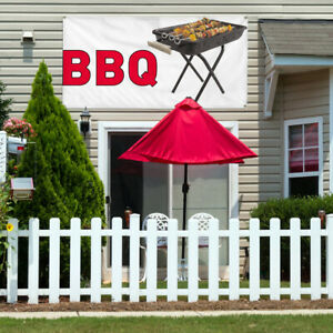 Vinyl Banner Sign Bbq 1 Style D Restaurant Food Marketing Advertising White