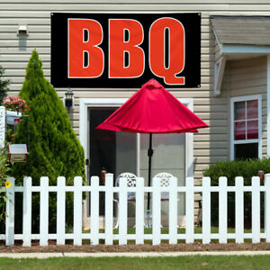 Vinyl Banner Sign Bbq 1 Style E Restaurant Food Marketing Advertising Black
