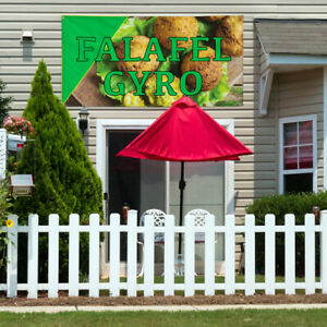 Vinyl Banner Sign Falafel Gyro 1 Style A Outdoor Marketing Advertising Brown