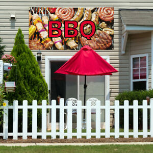 Vinyl Banner Sign Bbq 1 Style F Restaurant Food Marketing Advertising Brown