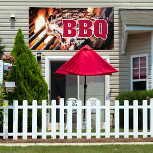 Vinyl Banner Sign Bbq 1 Style H Restaurant Food Marketing Advertising Brown