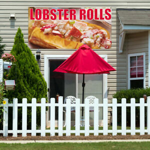 Vinyl Banner Sign Lobster Rolls 1 Style A Marketing Advertising Yellow