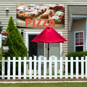 Vinyl Banner Sign Pizza 1 Style M Pizza Outdoor Marketing Advertising Brown