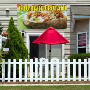 Vinyl Banner Sign Bbq Baked Potato Restaurant Food Marketing Advertising Red