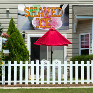 Vinyl Banner Sign Shaved Ice 1 Style A Outdoor Marketing Advertising Orange