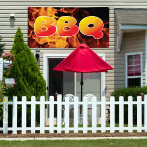 Vinyl Banner Sign Bbq 1 Restaurant Food Outdoor Marketing Advertising Red