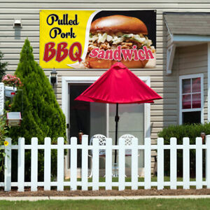 Vinyl Banner Sign Pulled Pork Bbq Sandwich 1 Style A Marketing Advertising