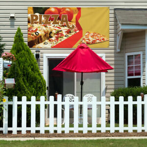 Vinyl Banner Sign Pizza 1 Style D Pizza Slice Marketing Advertising Yellow