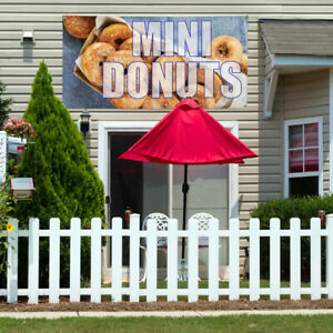 Vinyl Banner Sign Mini Donuts 1 Food Beverage Marketing Advertising Brown