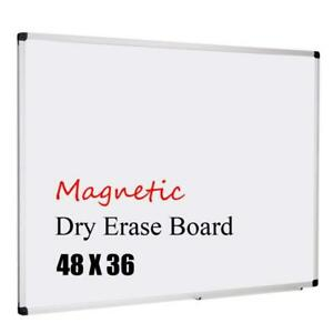 Xboard Magnetic 48x36 inch Dry Erase Aluminum Framed Whiteboard With