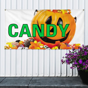Vinyl Banner Sign Candy 1 Style B Retail Candy Marketing Advertising White