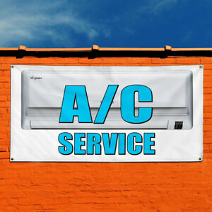 Vinyl Banner Sign A c Service Business Business Marketing Advertising White