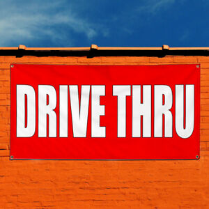Vinyl Banner Sign Drive Thru Business Drive Thru Marketing Advertising Red