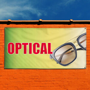 Vinyl Banner Sign Optical Business Optical Outdoor Marketing Advertising Yellow