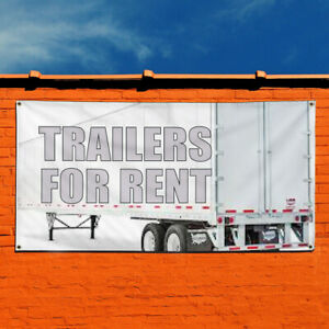 Vinyl Banner Sign Trailers For Rent Business Outdoor Marketing Advertising Grey