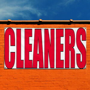 Vinyl Banner Sign Cleaners 1 Style A Business Clean Marketing Advertising Red