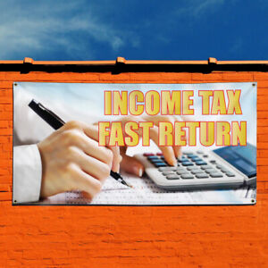 Vinyl Banner Sign Income Tax Fast Returns 1 Style A Marketing Advertising