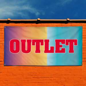 Vinyl Banner Sign Outlet Business Outlet Outdoor Marketing Advertising Red
