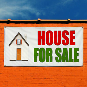 Vinyl Banner Sign House For Sale Real Estate Marketing Advertising Green