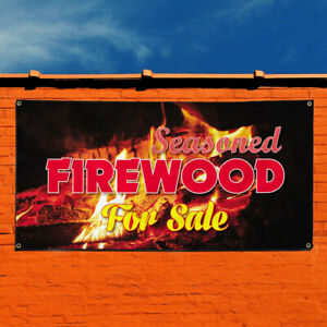 Vinyl Banner Sign Seasoned Firewood For Sale 1 Style A Marketing Advertising