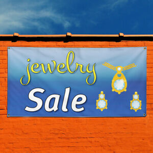 Vinyl Banner Sign Jewelry Sale Business Style S Marketing Advertising Yellow