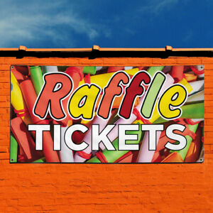 Vinyl Banner Sign Raffle Tickets Business Outdoor Marketing Advertising Orange