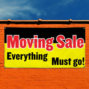 Vinyl Banner Sign Moving Sale Everything Must Go Business Marketing Advertising