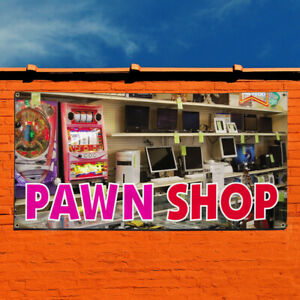 Vinyl Banner Sign Pawn Shop 1 Style C Business Marketing Advertising Brown
