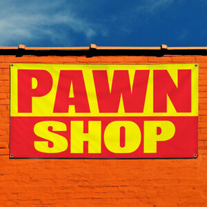 Vinyl Banner Sign Pawn Shop 1 Business Pawn Marketing Advertising Yellow