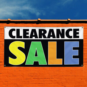 Vinyl Banner Sign Clearance Sale 2 Business Marketing Advertising White