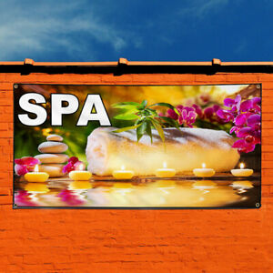 Vinyl Banner Sign Spa Business Spa Outdoor Marketing Advertising Multi colored