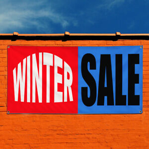 Vinyl Banner Sign Winter Sale Business Business Marketing Advertising Red