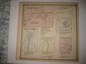 Antique 1865 Potsdam Stockholm Lisbon St Lawrence County New York Handcolor Map