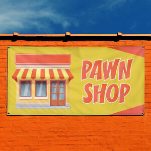 Vinyl Banner Sign Pawn Shop 1 Style A Business Marketing Advertising Yellow