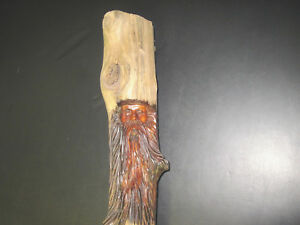 Hand Carved Mountain Man Wood Carving Wood Spirit Carving 1
