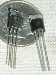 2 Si Siliconix Vn10km N Mosfet Dmos Mos Fet 60v To92 W tab To92 Usa Ships Now