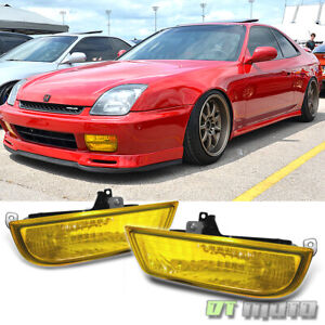 For 1997 2002 Honda Prelude Jdm Yellow Fog Lights Lamps W Switch Left Right