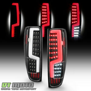 Black 2004 2012 Chevy Colorado Gmc Canyon Led Light Tube Tail Lights Brake Lamps