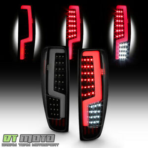 Black Smoke 2004 2012 Chevy Colorado Gmc Canyon Led Tube Tail Lights Brake Lamps