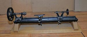 Early Bench Lathe Restored Collectible Jewelry Watchmakers Woodworking Tool