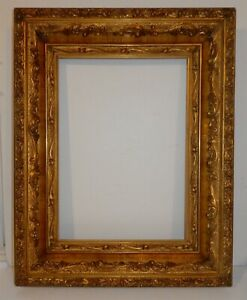 Beautiful Ornate Antique 15x20 Gold Picture Frame Liner With 10x14 Rabbet