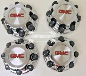 4x Gmc Sierra Yukon Van 1500 2500 3500 16 Wheel Center Caps Hub 8 Lug New Style