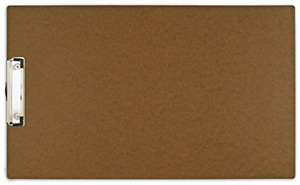 11x17 Hardboard Clipboard With 4 Low Profile Clip Brown 544461 New