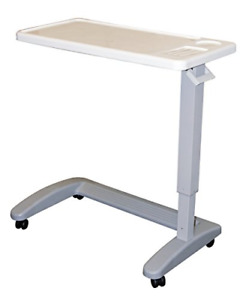 Overbed Table Over The Bed Hospital Tray Adjustable Breakfast Medical Rolling