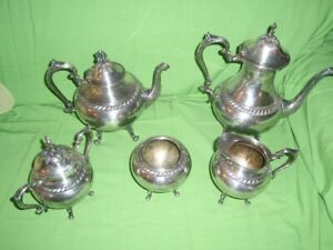 Vintage Silver Tea Coffee Service By Sheridan Silver Co Taunton Mass 1946 1973