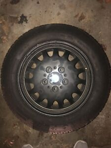 Set 4 Bmw E36 Rims Stock 5 120 15 Inch With Tires Tread Left