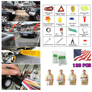 Sturdy Auto Emergency Kit Car Roadside Assistance Safety Complete Tools Kit Us