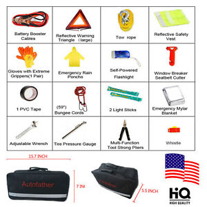 Emergency Kit Car Roadside Assistance Safety Complete Tools Kit High Quality Us