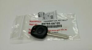 1 New Toyota Replacement Uncut Transponder 4d Chip Car Ignition Key With Logo